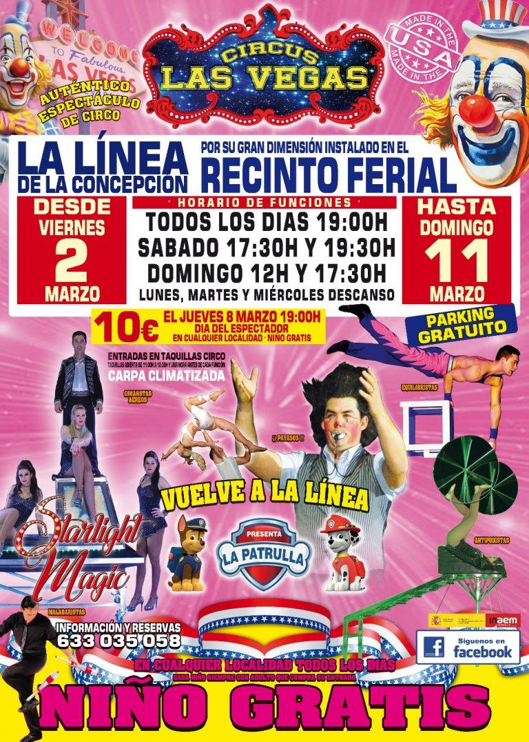 Circus las Vegas en La Línea de la Concepción