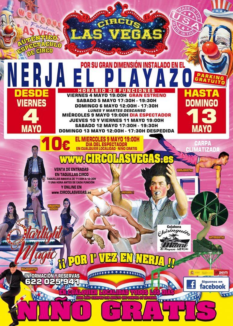 Circus las Vegas en Nerja. Circo las Vegas
