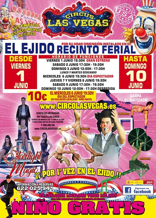 Circus Las Vegas en El Ejido, Almería