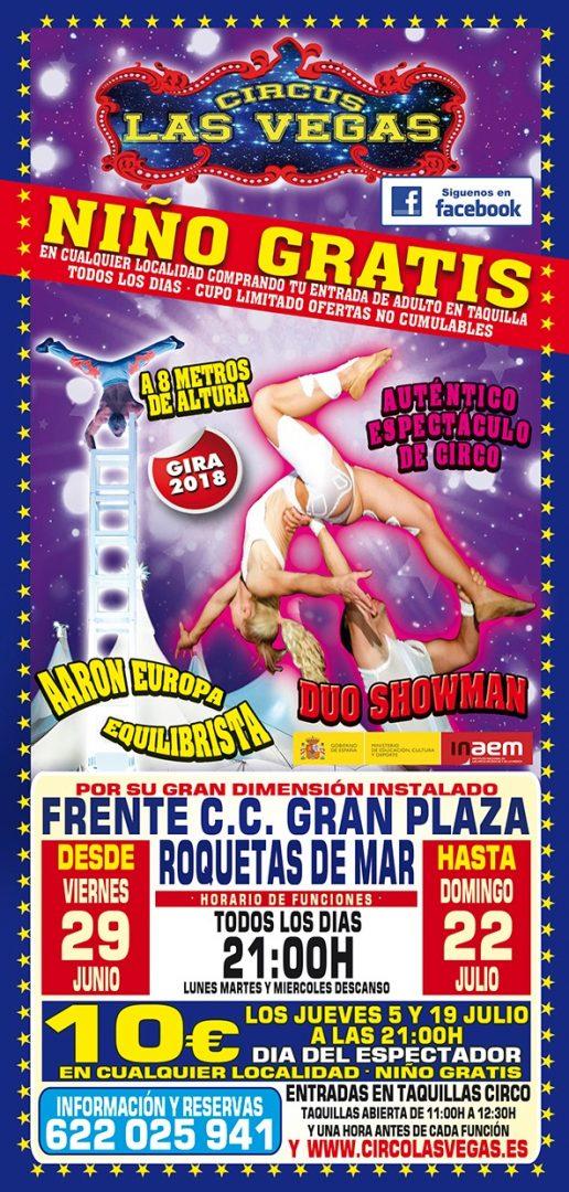 Circus las Vegas llega a Roquetas de Mar