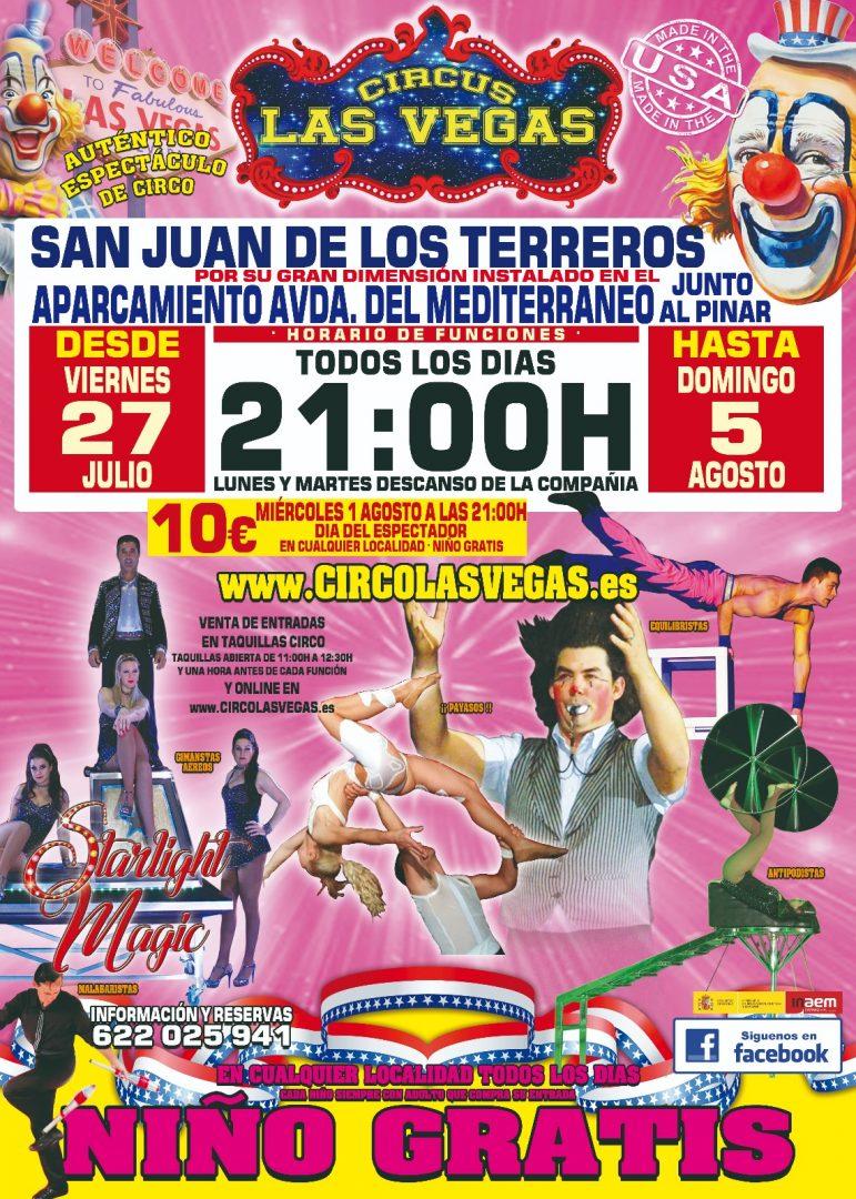 Circus las vegas en San Juan de los Terreros