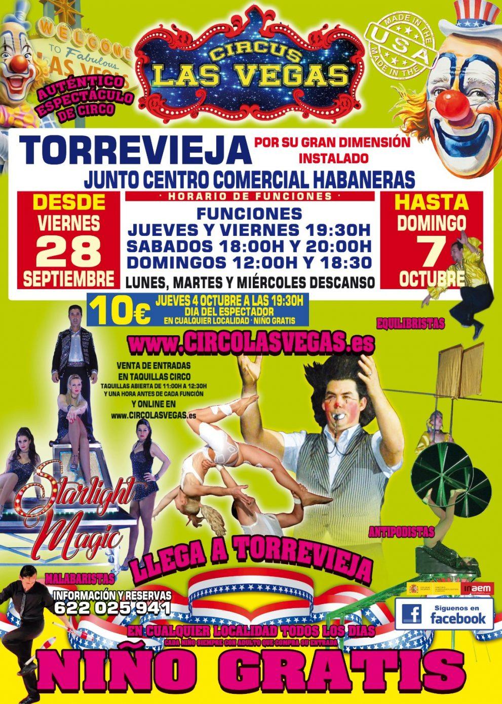 Circus las Vegas llega a Torrevieja