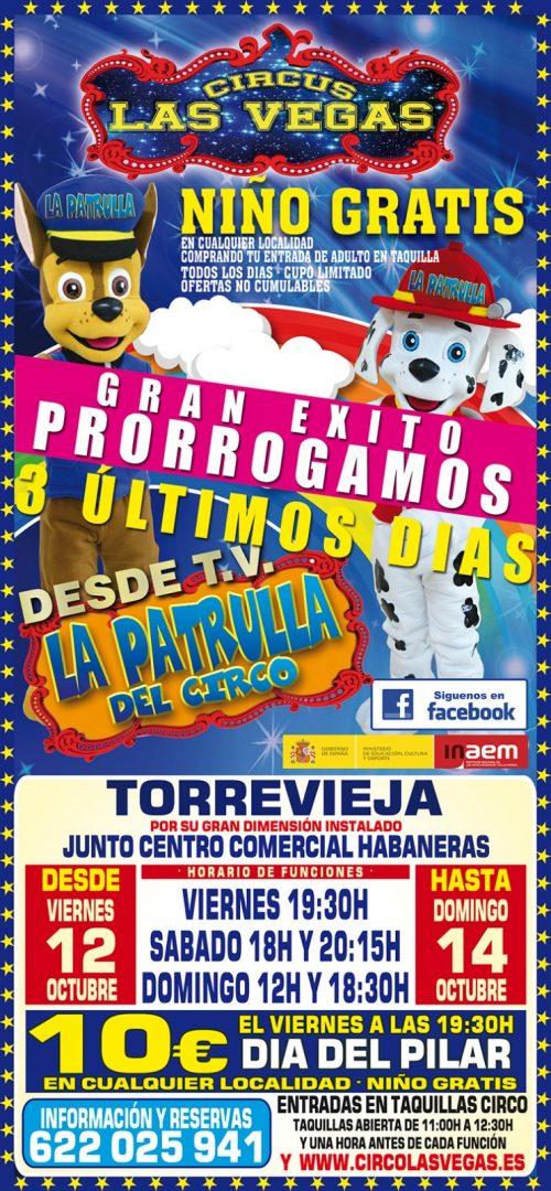 Atención niños, niñas y adultos, circus las vegas llega a Torrevieja.<br> Nos quedamos tres días más