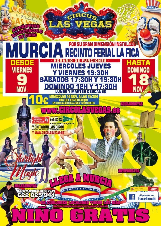 Circus las Vegas Murcia, llega el espectáculo