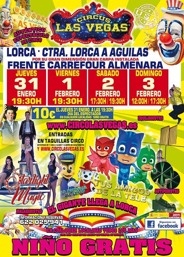 Cartel de Circus Las Vegas en Lorca