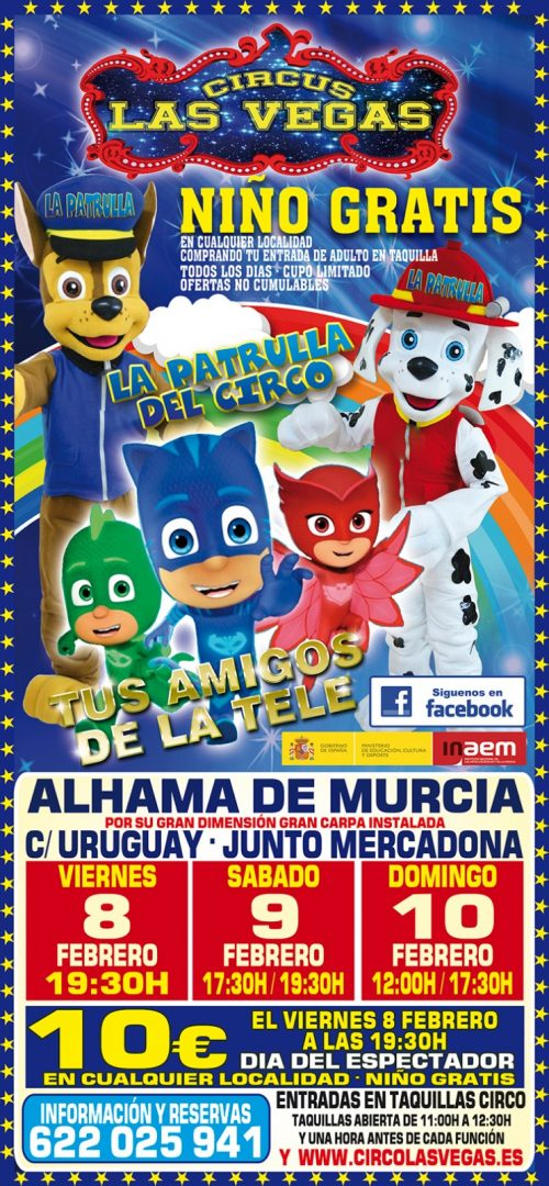 Circus las Vegas llega a Alhama de Murcia