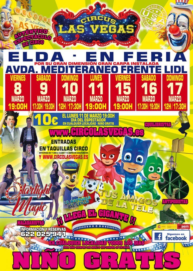 Feria de Elda Circo las Vegas