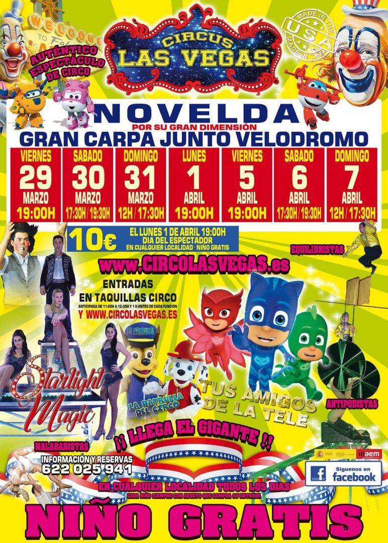Circus las Vegas en Novelda
