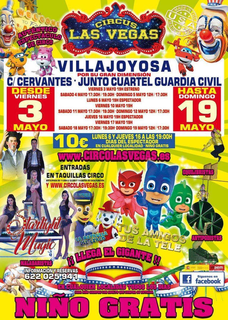 Circus las Vegas en Villajoyosa