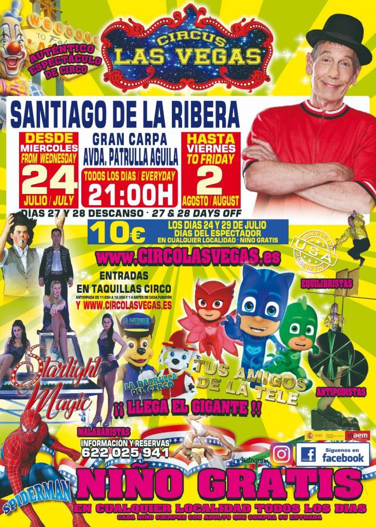 Circo las Vegas en Santiago de La Ribera