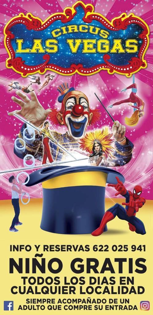 Circo Las Vegas Anuncio Niño gratis