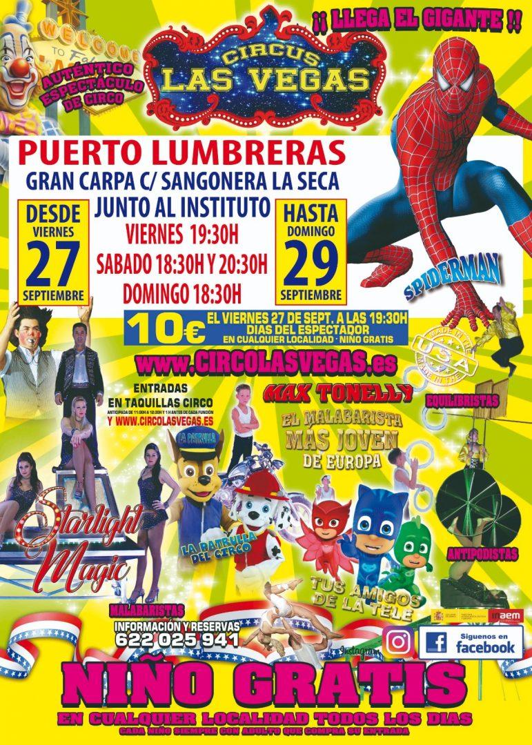 Circo las Vegas en Puerto Lumbreras