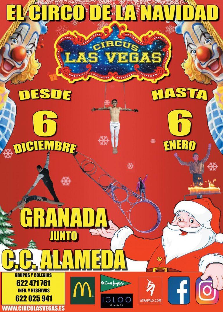 Circus las Vegas en Granada! El mayor espectáculo de la Navidad!