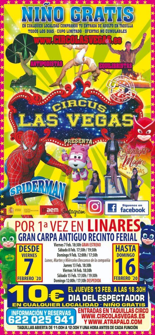 Cartel de Circus las Vegas en Linares
