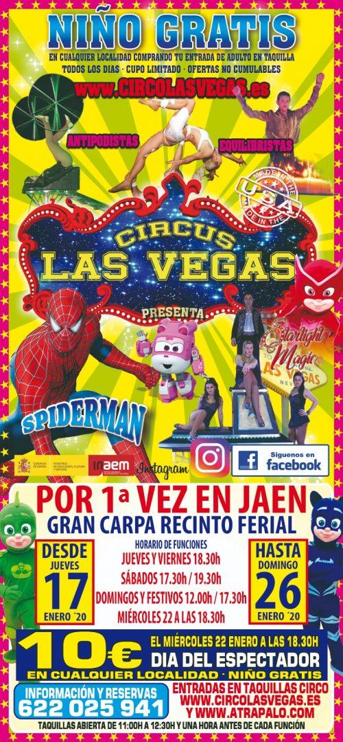 Circus las vegas en jaen, cartel del circo