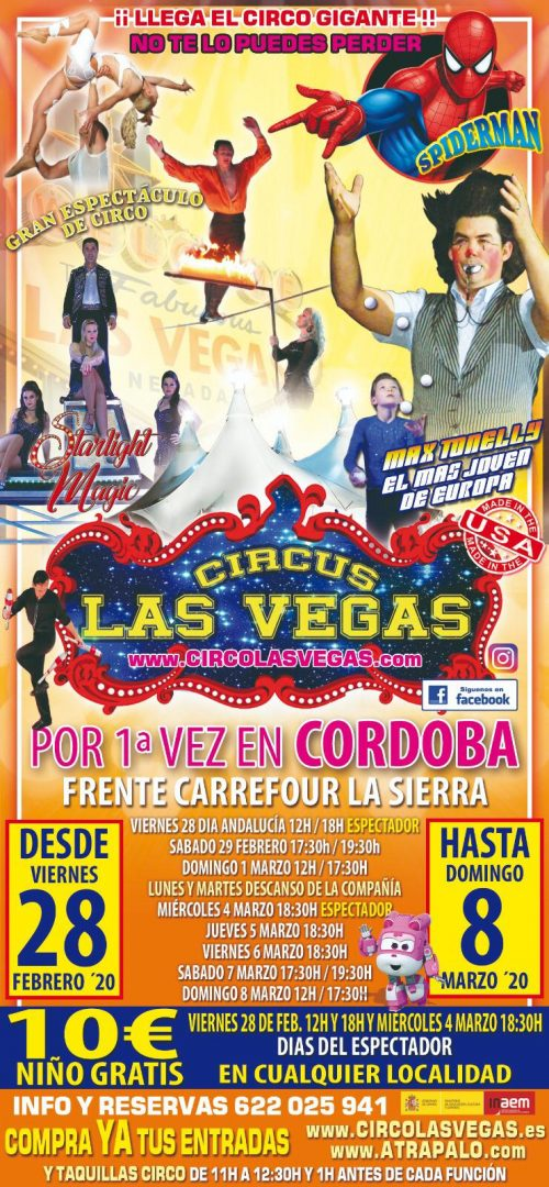 Circo las Vegas en Córdoba por primera vez